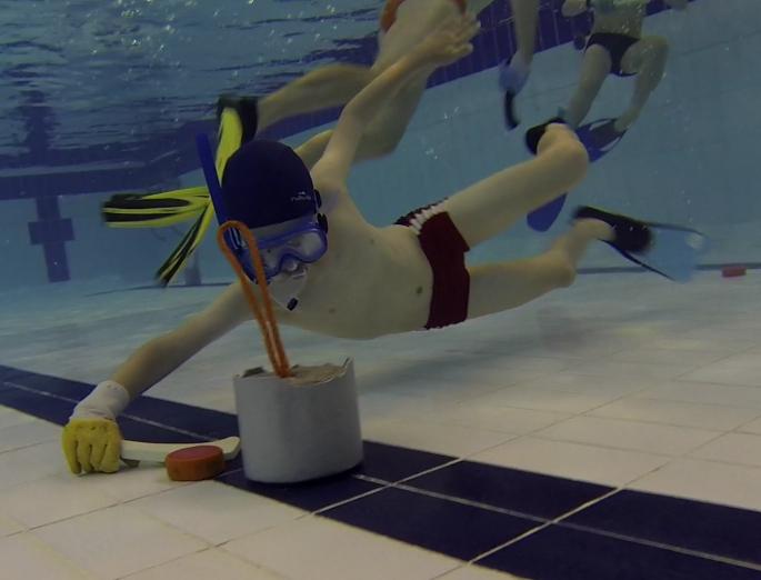 Découverte du hockey subaquatique